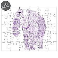 Tangled Purple Elephant Puzzle