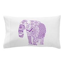 Tangled Purple Elephant Pillow Case