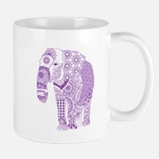 Tangled Purple Elephant Mugs
