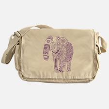 Tangled Purple Elephant Messenger Bag