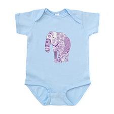 Tangled Purple Elephant Body Suit