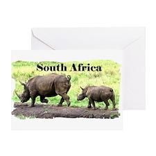 Rhino original photo - Greeting Card