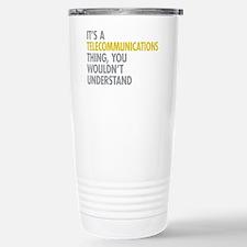 Telecommunications Thin Stainless Steel Travel Mug