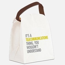 Telecommunications Thing Canvas Lunch Bag