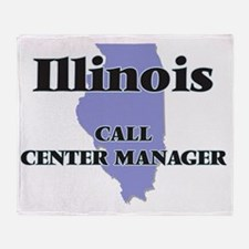 Illinois Call Center Manager Throw Blanket