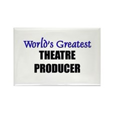 Worlds Greatest THEATRE PRODUCER Rectangle Magnet
