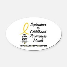 Childhood Cancer Awareness Oval Car Magnet