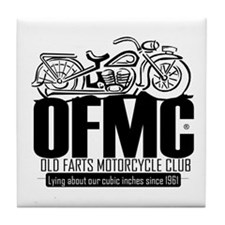 Old Farts Motorcycle Club Tile Coaster