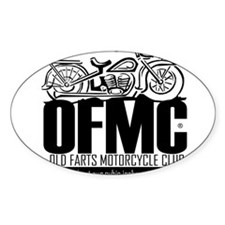 Old Farts Motorcycle Club Oval Decal