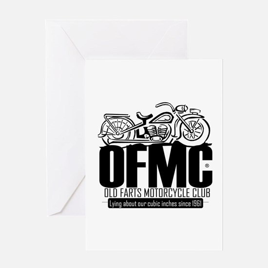 Old Farts Motorcycle Club Greeting Card