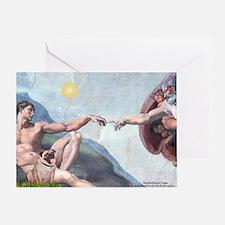 Creation / Fawn Pug Greeting Card