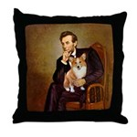 Lincoln's Corgi Throw Pillow