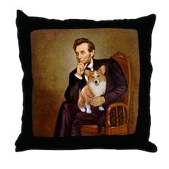 Lincoln's Corgi Throw Pillow