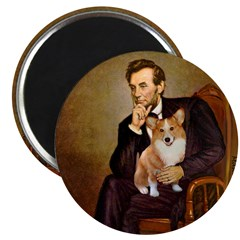 Lincoln's Corgi Magnet