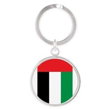 Funny Country flag Round Keychain