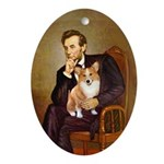 Lincoln's Corgi Ornament (Oval)