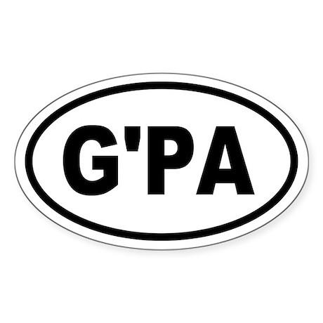 Basic Grandpa Oval Oval Sticker