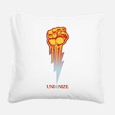 Unionize - Lightning Fist Square Canvas Pillow