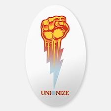 Unionize - Lightning Fist Sticker (Oval)