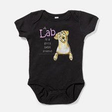 Cute Yellow labradors Baby Bodysuit