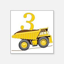 Dump Truck 3rd Birthday Sticker