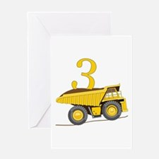 Dump Truck 3rd Birthday Greeting Cards