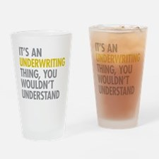 Underwriting Thing Drinking Glass