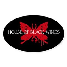 Black Wings Butterfly Oval Decal