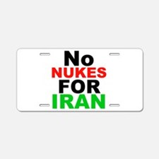 No Nukes For Iran Aluminum License Plate