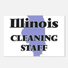 Illinois Cleaning Staff Postcards (Package of 8)