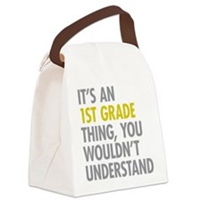 1st Grade Thing Canvas Lunch Bag