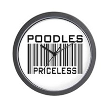 Poodle Priceless Dog Lover Wall Clock