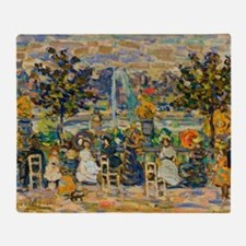 In Luxembourg Gardens by Prendergast Throw Blanket