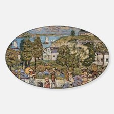 Landscape Near Nahant by Prendergas Sticker (Oval)