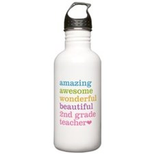 Amazing 2nd Grade Teac Sports Water Bottle