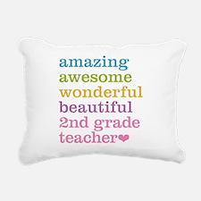 Amazing 2nd Grade Teache Rectangular Canvas Pillow