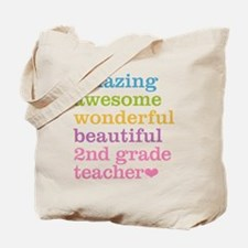 Amazing 2nd Grade Teacher Tote Bag