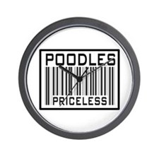 Poodles Priceless Barcode Wall Clock