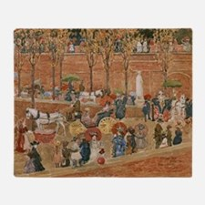 Pincian Hill, Rome by Prendergast Throw Blanket