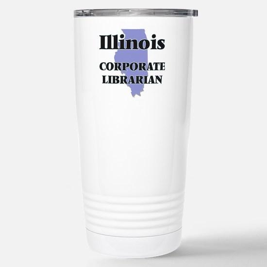 Illinois Corporate Libr Stainless Steel Travel Mug