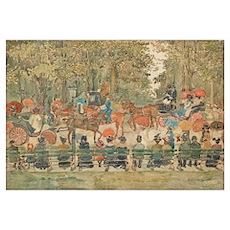 Central Park by Prendergast Poster
