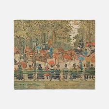 Central Park by Prendergast Throw Blanket