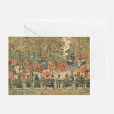 Central Park by Prendergast Greeting Card