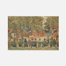 Central Park by Prendergast Rectangle Magnet