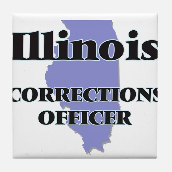 Illinois Corrections Officer Tile Coaster