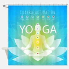 Yoga Chakra Activation Shower Curtain