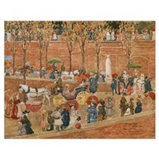 Pincian Hill, Rome by Prendergast Poster
