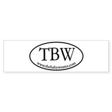TBW Oval Bumper Sticker