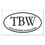 TBW Oval Rectangle Sticker