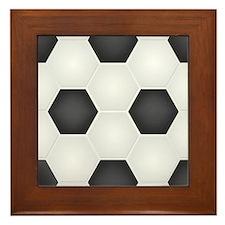 Football Ball Texture Framed Tile